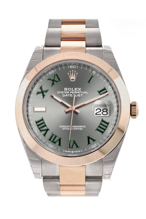 Rolex Datejust 41 Slate Dial Mens Steel And 18Kt Everose Gold Oyster Watch 126300