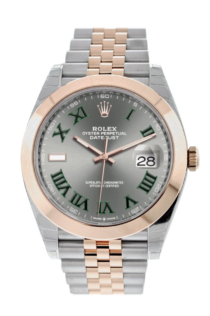 Rolex Datejust 41 Slate Dial Mens Steel And 18Kt Everose Gold Jubilee Watch 126300