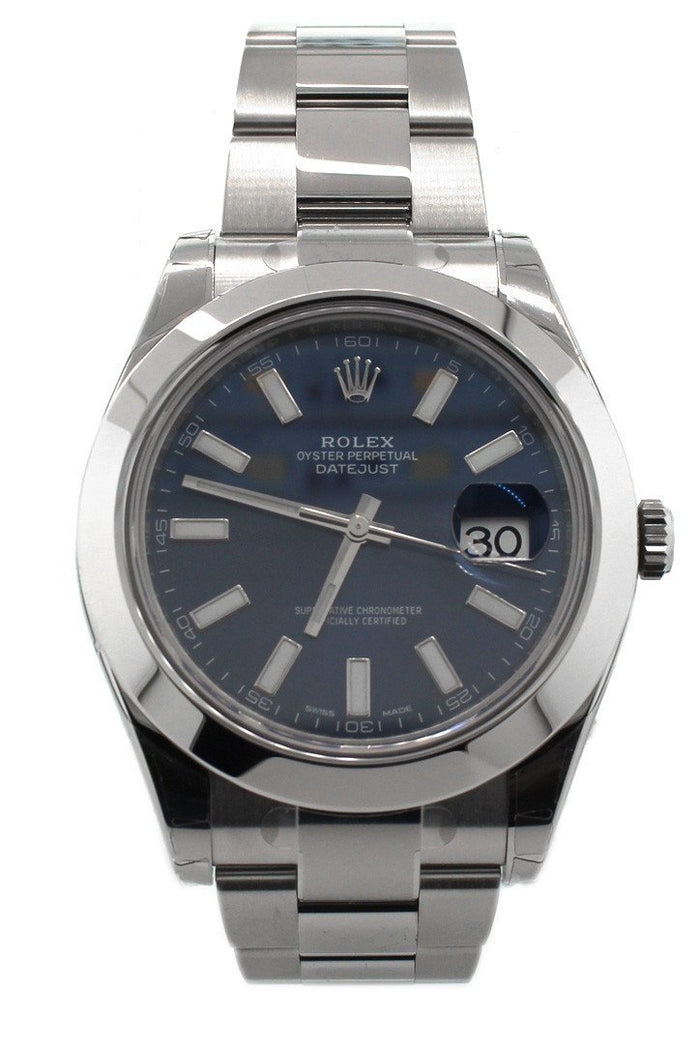 ROLEX 116300 Datejust II 41 Blue Dial Steel Men's | WatchGuyNYC