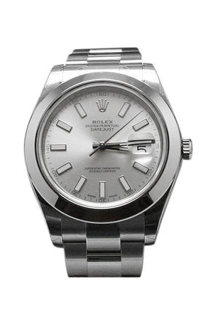 Rolex Datejust Ii 41 Silver Dial Steel Mens Watch 116300