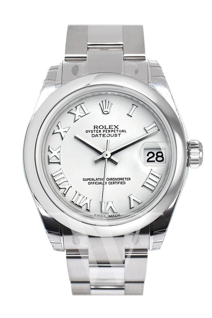 Rolex Datejust 31 White Roman Dial Steel Ladies Watch 178240 / None