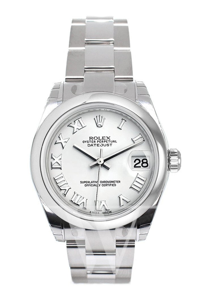 Rolex Datejust 31 White Roman Dial Steel Ladies Watch 178240