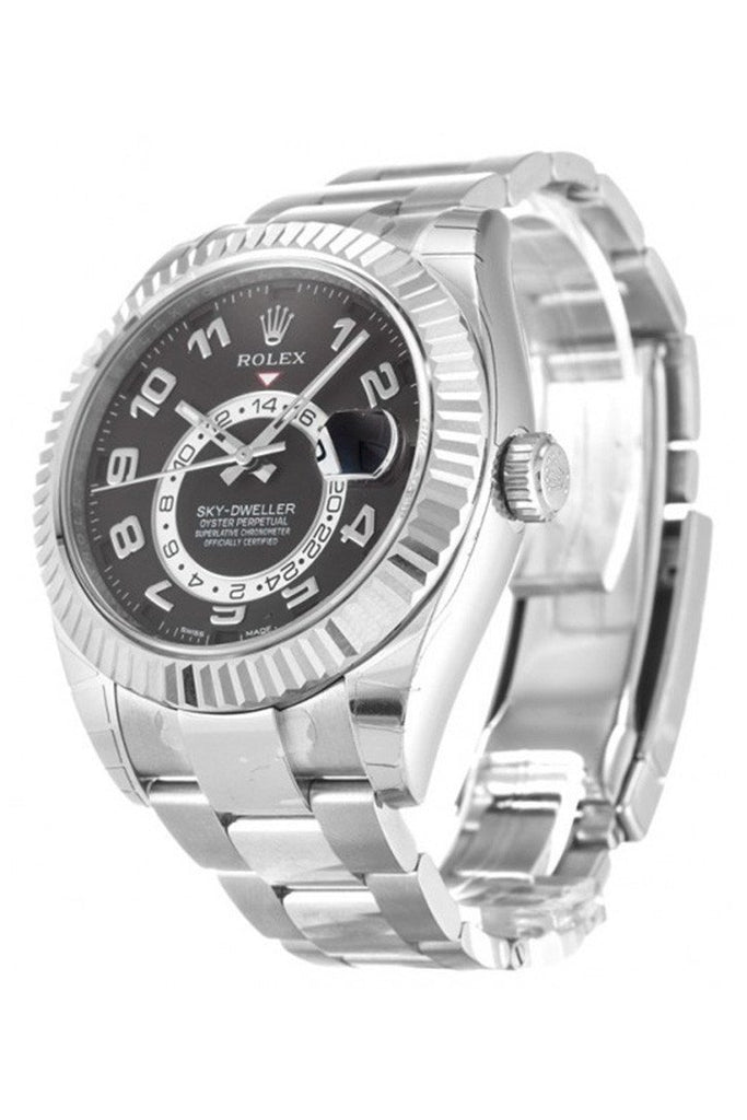 ROLEX 326939 Sky-Dweller 42 Black Dial 18K White Gold | WatchGuyNYC