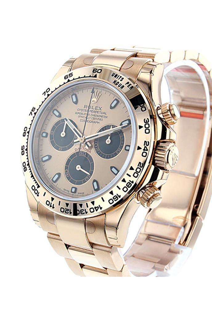 ROLEX 116505 Cosmograph Daytona 40 black Dial 18k Rose Gold Men's | WatchGuyNYC
