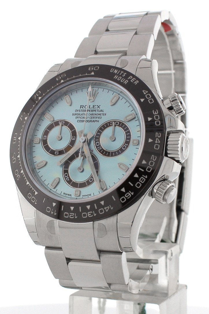 Rolex Cosmograph Daytona Ice Blue Dial Mens Watch 116506