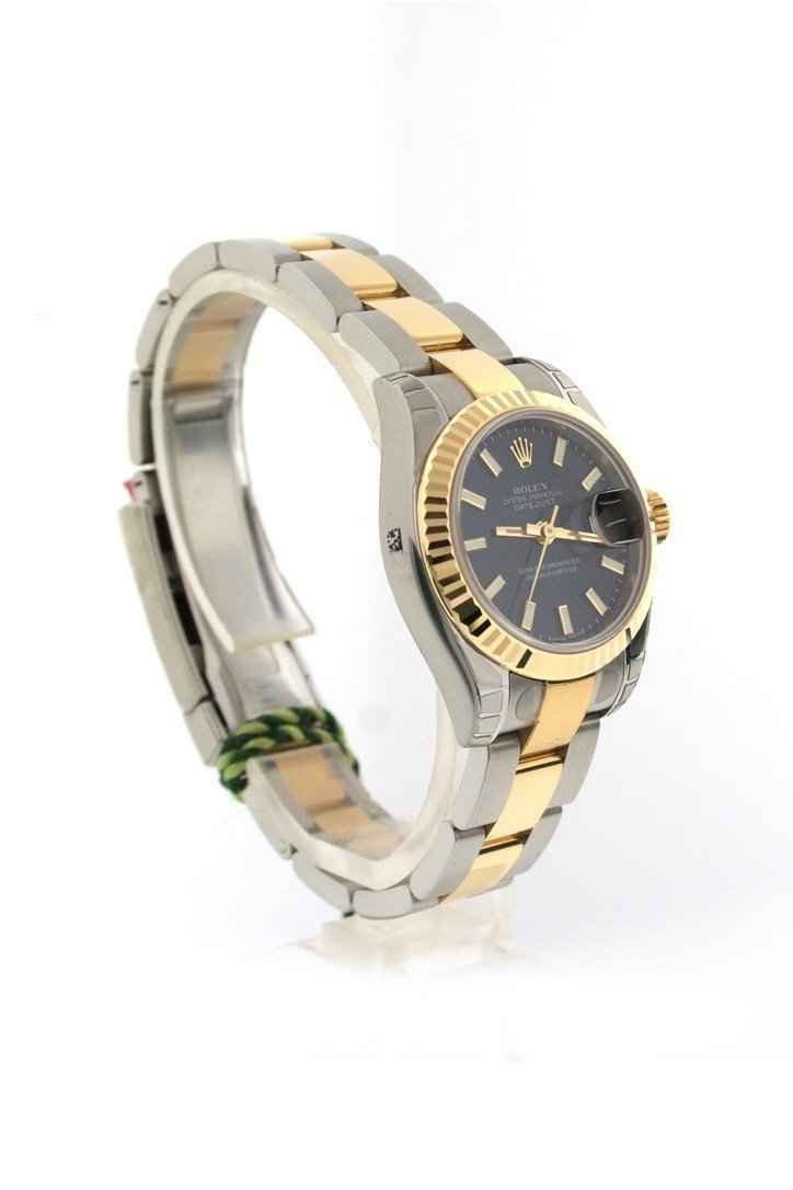 Rolex Datejust 26 Blue Dial 18K Yellow Gold And Steel Ladies Watch 179173