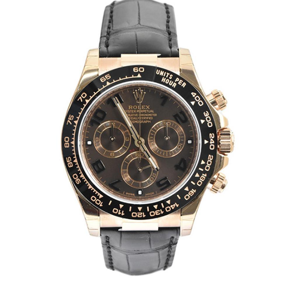 Rolex Cosmograph Daytona 40 Chocolate Dial 18K Rose Gold Mens Watch 116515