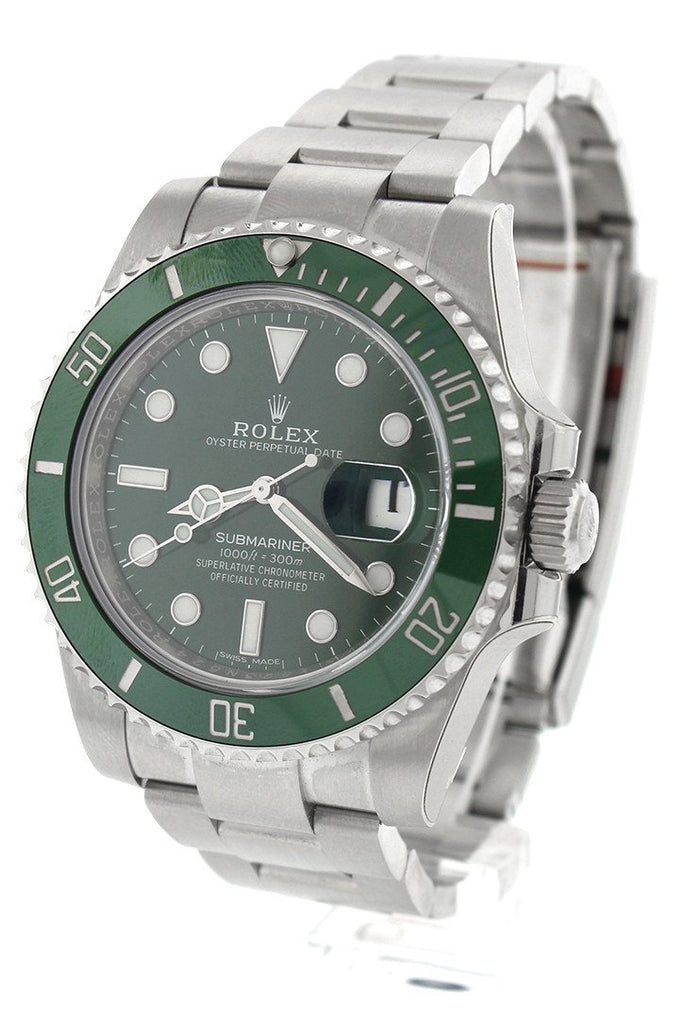 Rolex Submariner Hulk Date 40 Green Dial Mens Watch 116610Lv