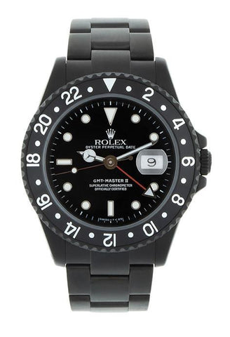 ROLEX Black-PVD GMT Master II Black Index Dial Oyster Bracelet Steel Black BOC Coating Men's Watch 116710