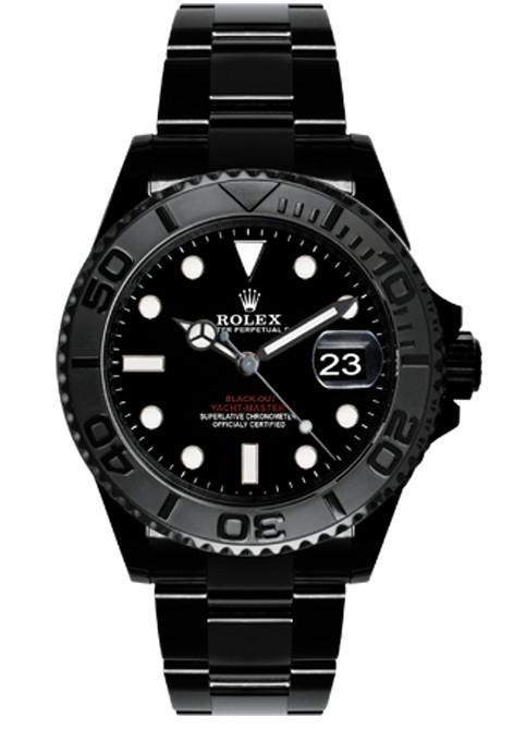 ROLEX Black-PVD Yacht-Master 40 Dark Rhodium Dial Steel Black