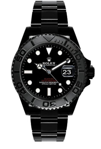 ROLEX Black-PVD Yacht-Master 40 Dark Rhodium Dial Steel Black BOC Coating Oyster Men's Watch 116622