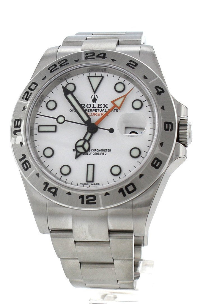 ROLEX 216570 Explorer II White Dial Stainless Steel Men's Watch | WatchGuyNYC