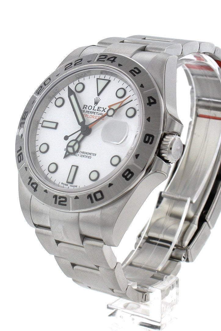 Rolex Explorer Ii White Dial Stainless Steel Mens Watch 216570