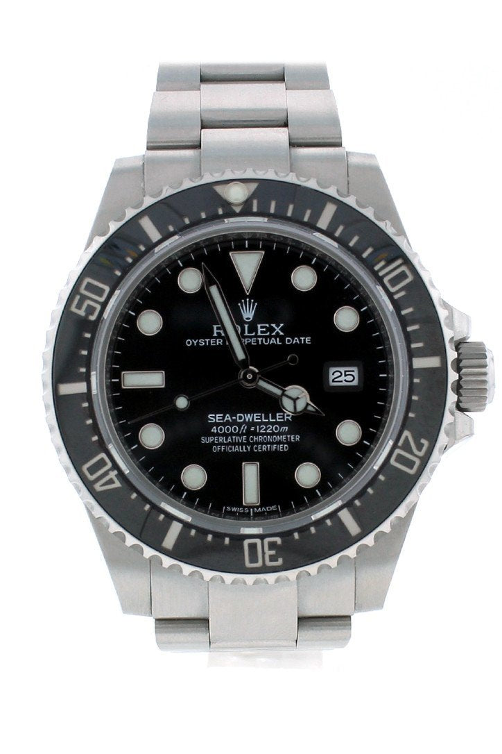 Rolex Sea Dweller Deepsea 44 Deep Black Dial Stainless Steel Mens Watch 116660