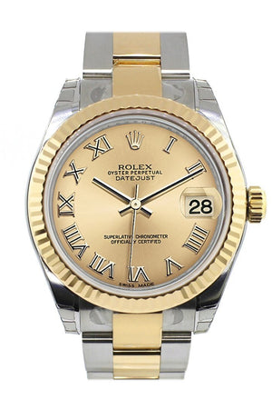 Rolex Datejust 31 Champagne Roman Dial Fluted Bezel 18K Gold Two Tone Ladies 178273 / None Watch