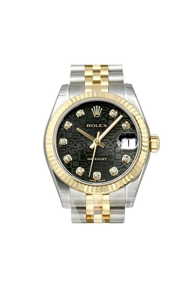 Rolex Datejust 31 Black Jubilee Diamond Dial Steel And Yellow Gold Ladies Watch 178273