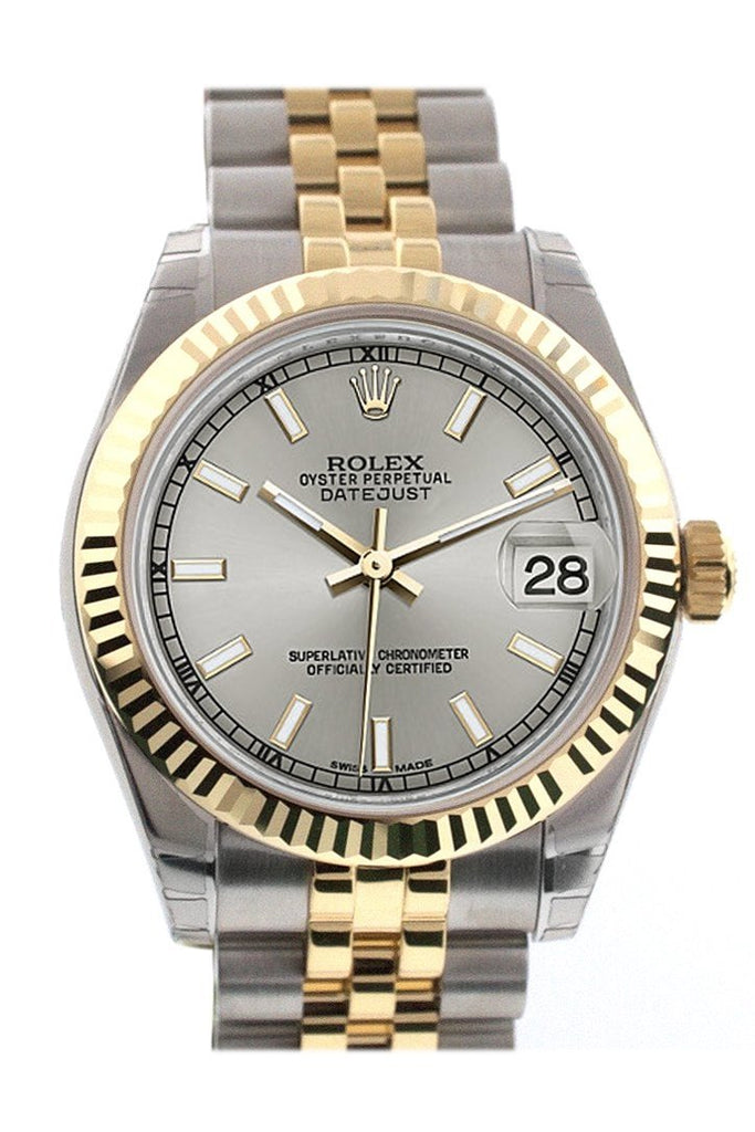 Rolex Datejust 31 Silver Dial Fluted Bezel 18K Gold Two Tone Jubilee Ladies 178273 / None Watch