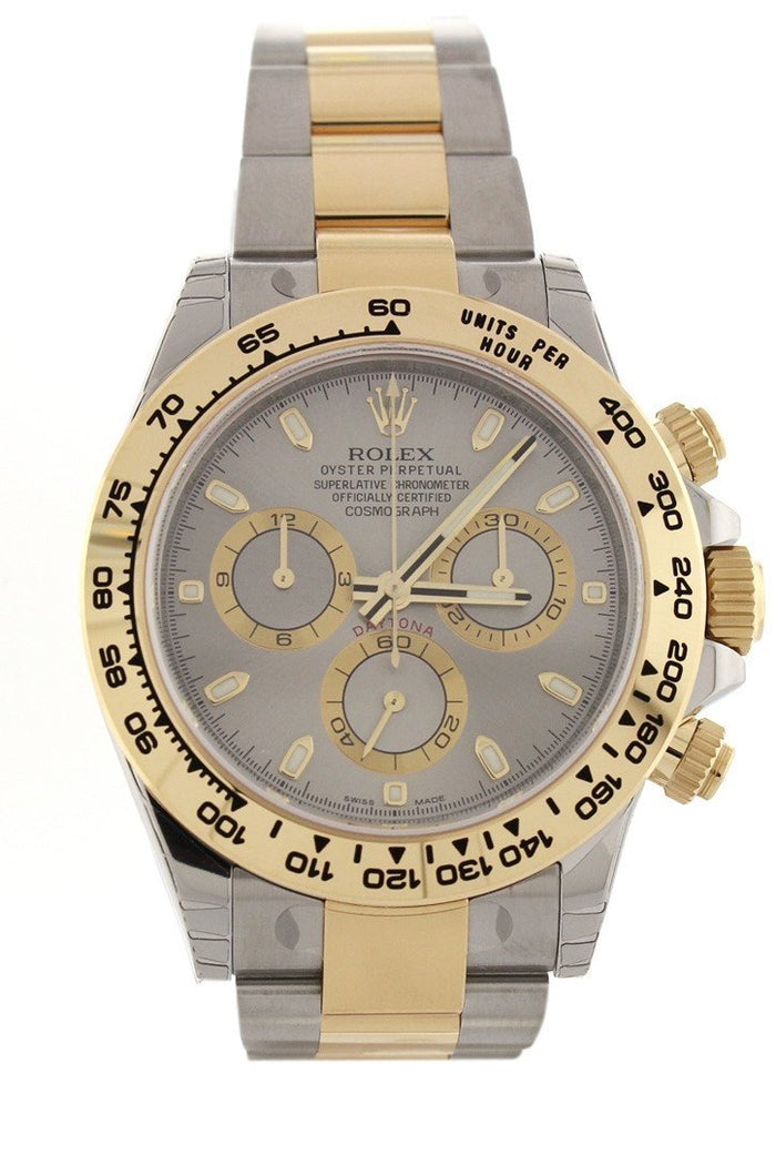 ROLEX 116523 Cosmograph Daytona 40 Grey Dial Steel Men's Watch | WatchGuyNYC