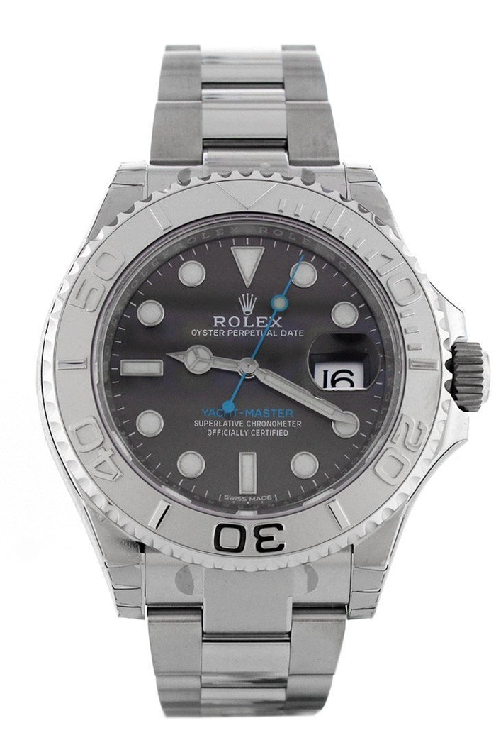 Rolex 116622 Yatch-master 40 Dark Rhodium Dial Platinum and Steel Mens Watch |WatchGuyNYC