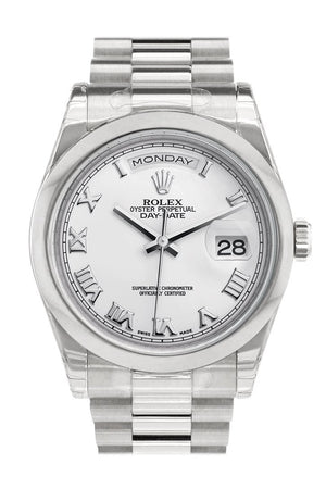 Rolex Day Date 36 White Roman Dial President Mens Watch 118206