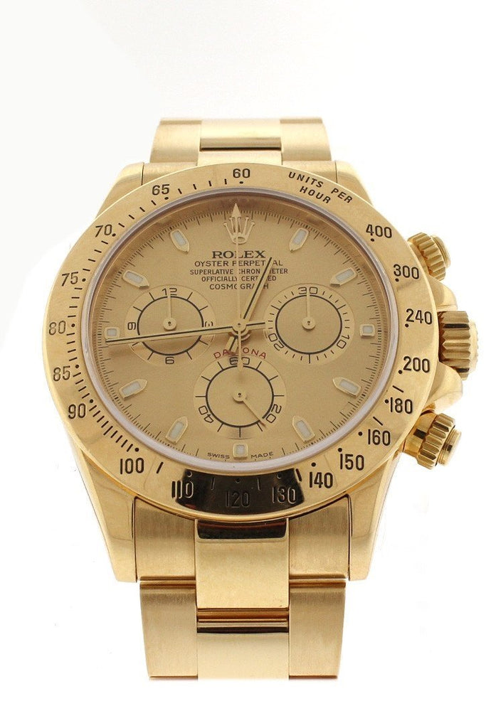 ROLEX 116528 Cosmograph Daytona White Dial Men's Watch| WatchGuyNYC