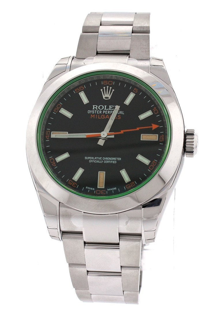 Rolex Milgauss Black Dial Stainless Steel Men's Watch 116400GV