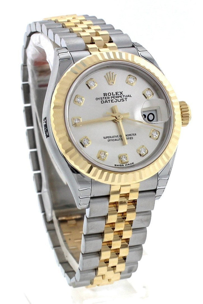 lady chest jubilee white pearlmaster gold watch rolex dial silver datejust diamond