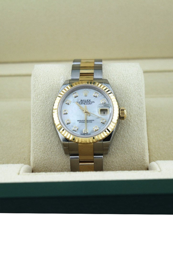 ROLEX 279173 Datejust 28 Mother of Pearl Diamond Dial Ladies | WatchGuyNYC New York