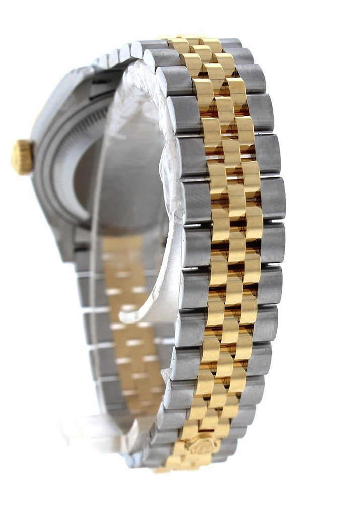 Rolex Datejust 28 Mother of Pearl Diamond Dial Fluted Yellow Gold Two Tone Jubilee Ladies Watch 279173