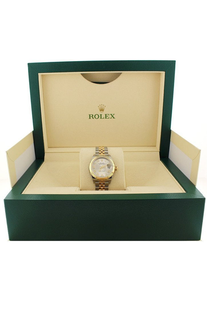 Rolex Lady Datejust 28 Silver Dial Steel and 18K Yellow Gold Jubilee Ladies Watch 279173