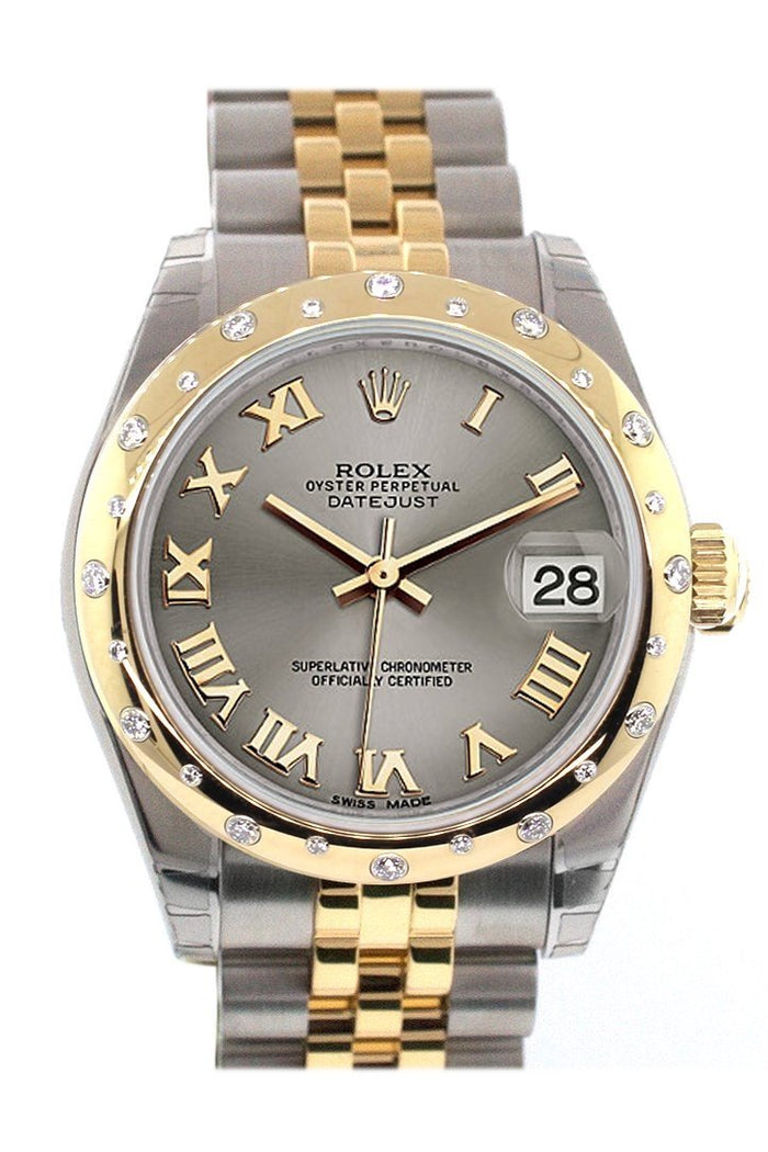 Rolex Datejust 31 Steel Roman Dial Diamond Bezel 18K Gold Two Tone Jubilee Ladies 178343
