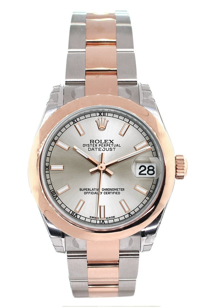 Rolex Datejust 31 Silver Dial 18K Rose Gold Two Tone Ladies Watch 178241