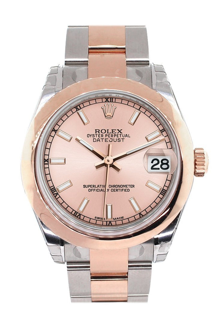 Rolex Datejust 31 Pink Dial 18K Rose Gold Two Tone Ladies Watch 178241