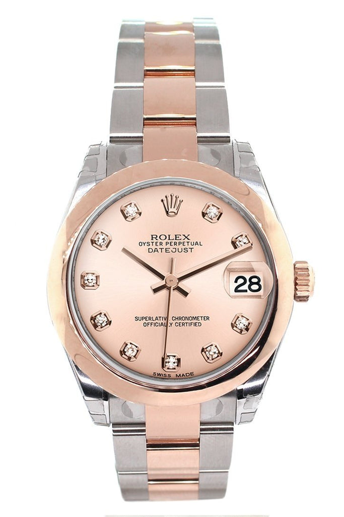 Rolex Datejust 31 Pink Diamond Dial 18K Rose Gold Two Tone Ladies Watch 178241