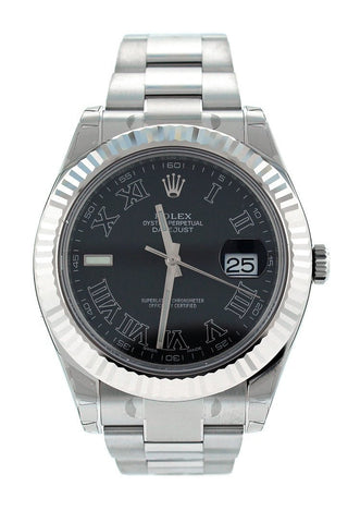 ROLEX 116334 Datejust II 41 Black Roman Men's Watch | WatchGuyNYC