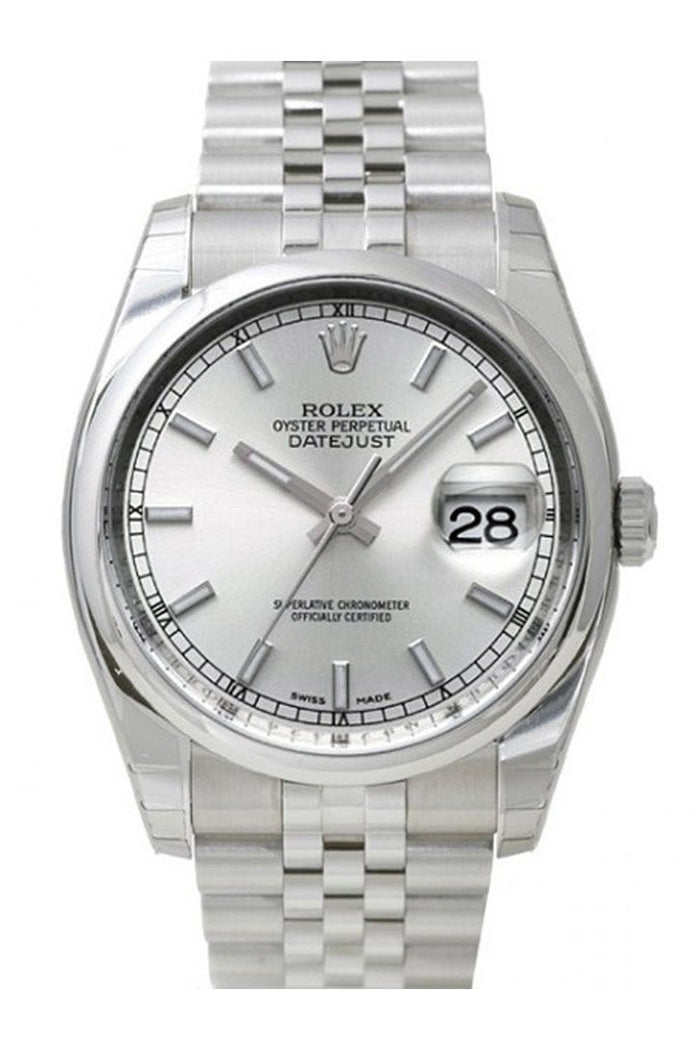 ROLEX 116200 Datejust 36 Silver Mens Watch | WatchGuyNYC New York