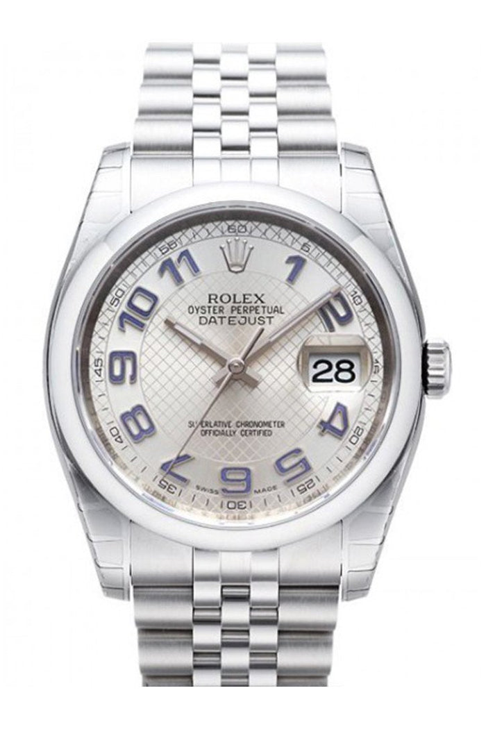 OLEX 116200 Datejust 36 Silver Mens Watch | WatchGuyNYC New York