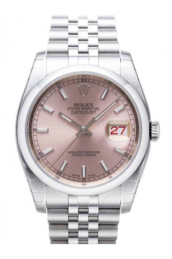 ROLEX 116200 Datejust 36 Pink Mens Watch | WatchGuyNYC