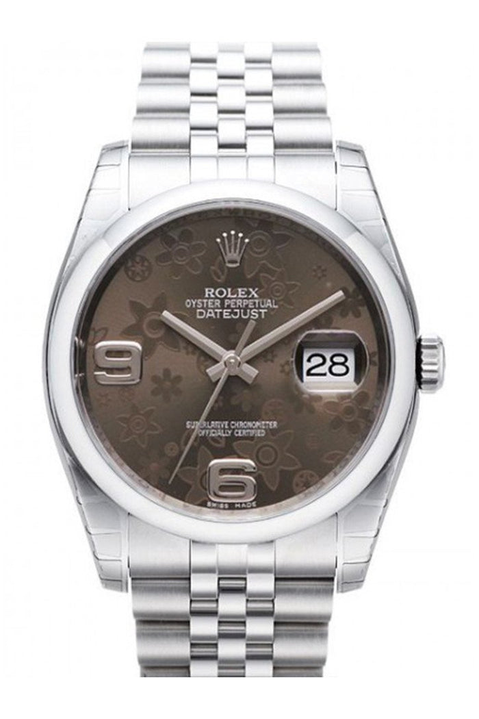 ROLEX 116200 Datejust 36 Bronze Floral Mens Watch | WatchGuyNYC