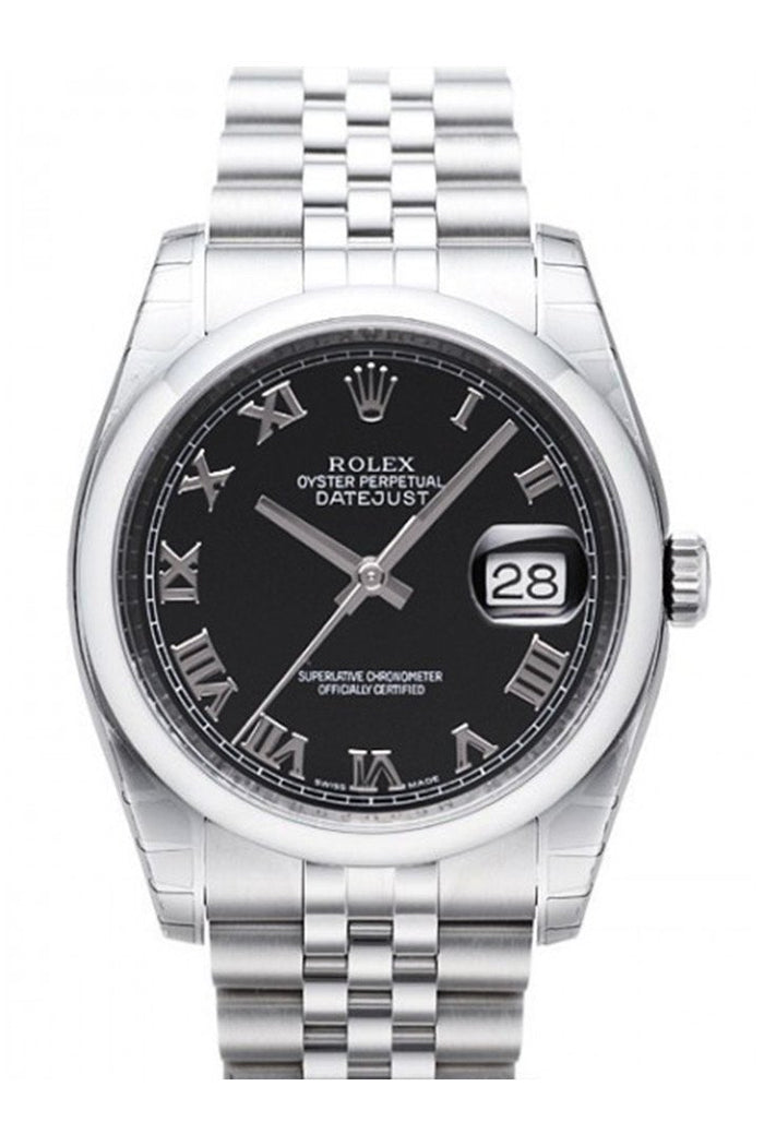 Edit website SEO ROLEX 116200 Datejust 36 Black Mens Watch | WatchGuyNYC