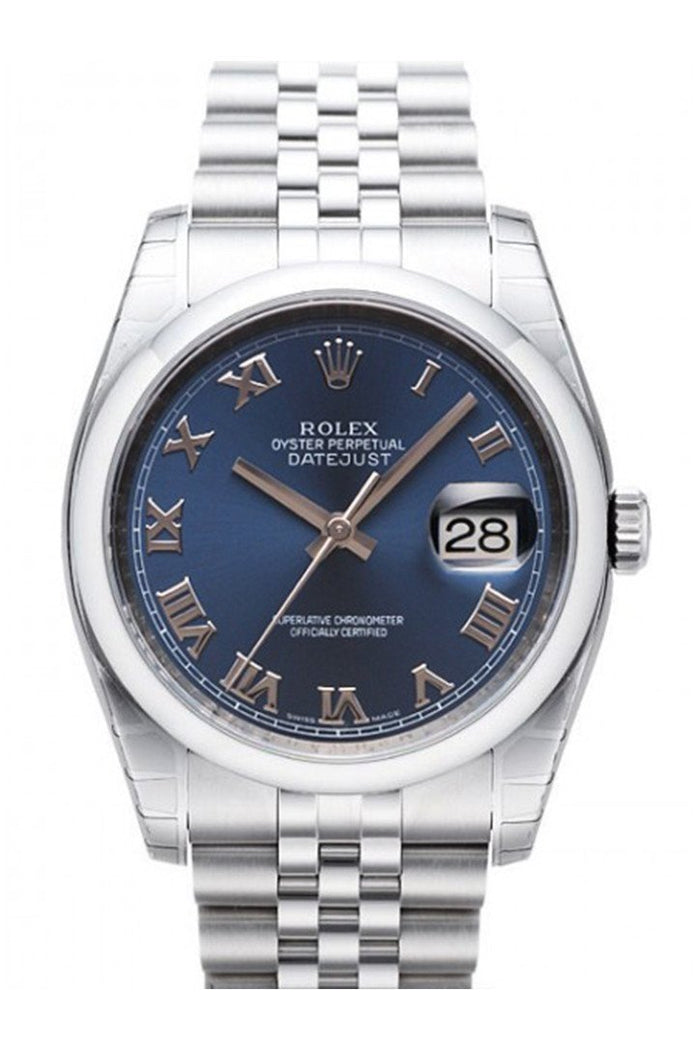 ROLEX 116200 Datejust 36 Blue Mens Watch | WatchGuyNYC