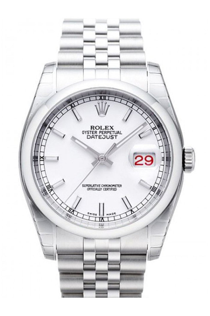 ROLEX 116200 Datejust 36 White Mens Watch | WatchGuyNYC New York