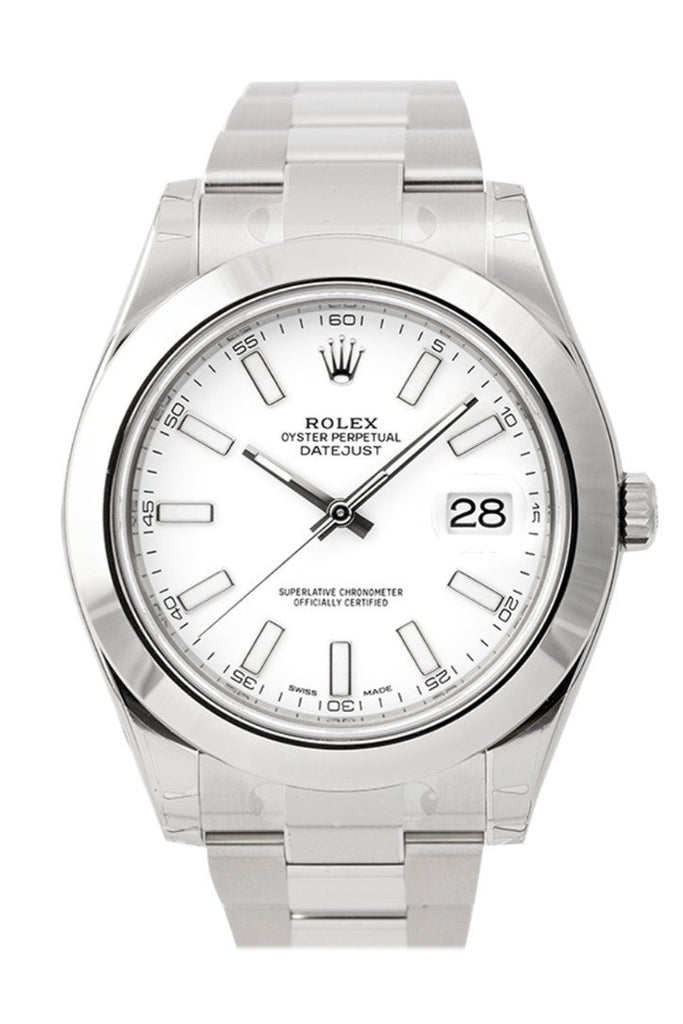 Rolex Datejust Ii White Dial Stainless Steel Oyster Automatic Mens Watch 116300