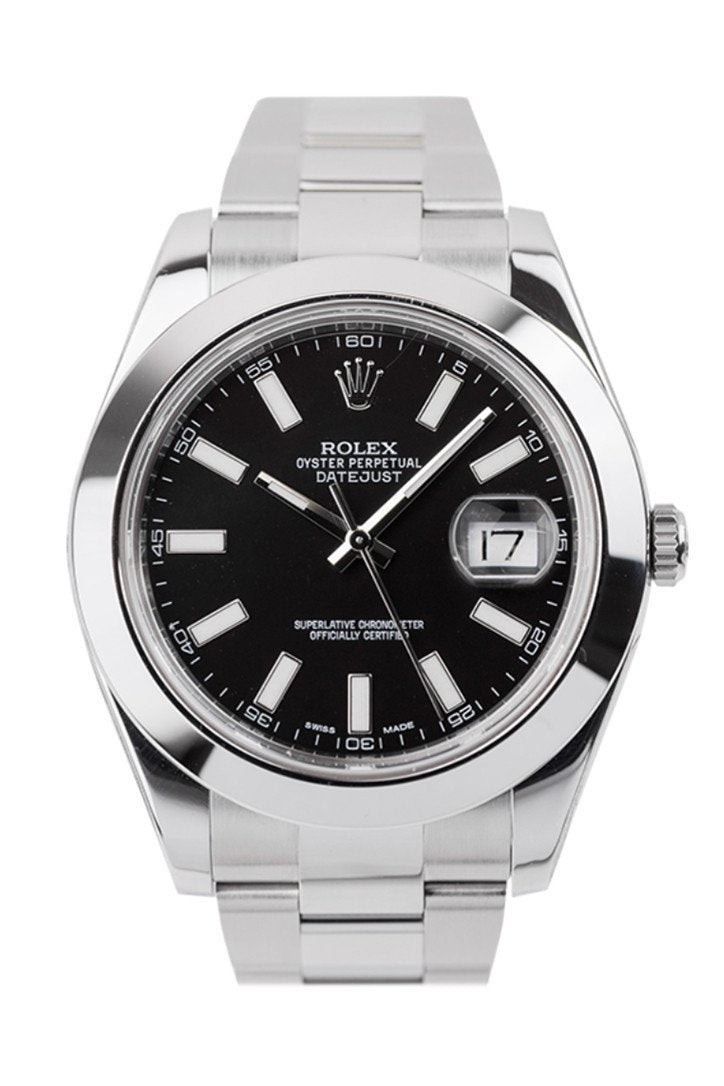 Rolex Datejust Ii Black Dial Stainless Steel Oyster Automatic Mens Watch 116300