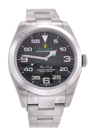 Rolex Air King Black Dial Stainless Steel Mens Watch 116900