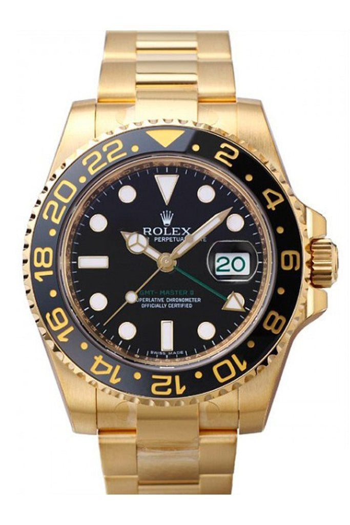 Rolex Gmt-Master Ii 40 Black Dial Stainless Steel Mens Watch 116718