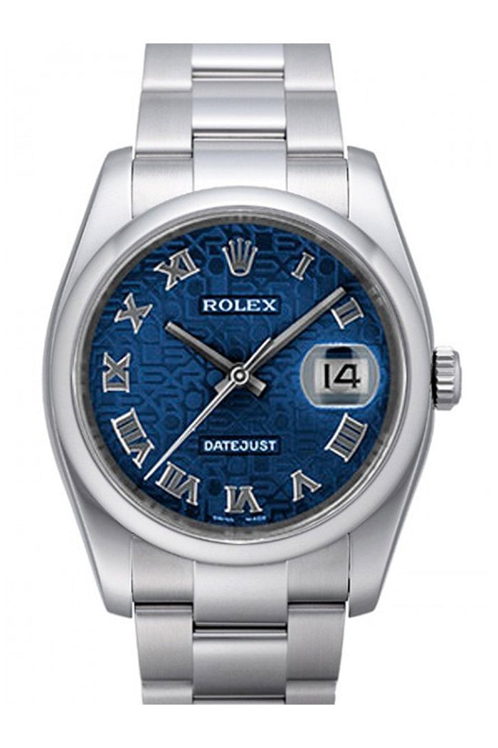ROLEX 116200 Datejust 36 Blue Jubilee Mens Watch | WatchGuyNYC
