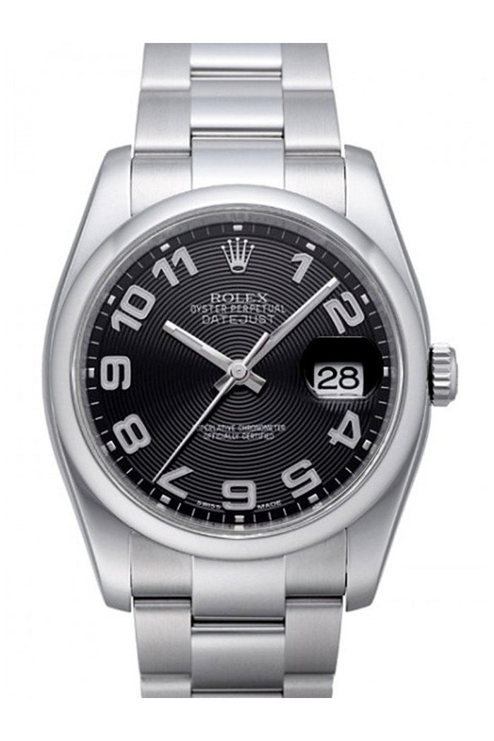 ROLEX 116200 Datejust 36 Black Sunbeam Watch | WatchGuyNYC New York