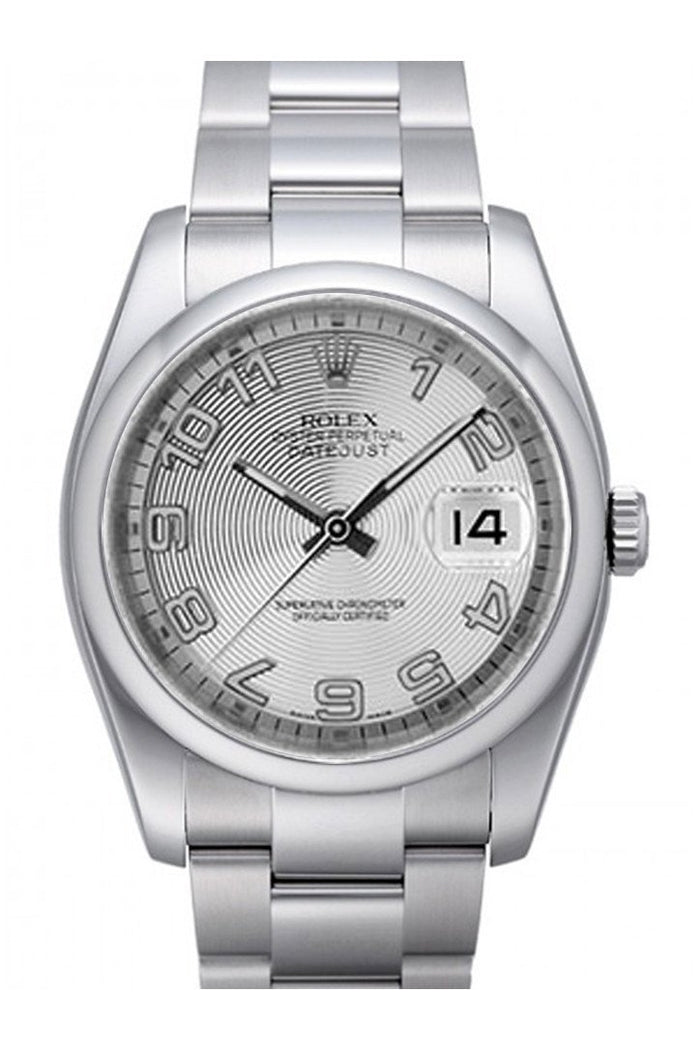 ROLEX 116200 Datejust 36 Silver Concentric Dial | WatchGuyNYC New York