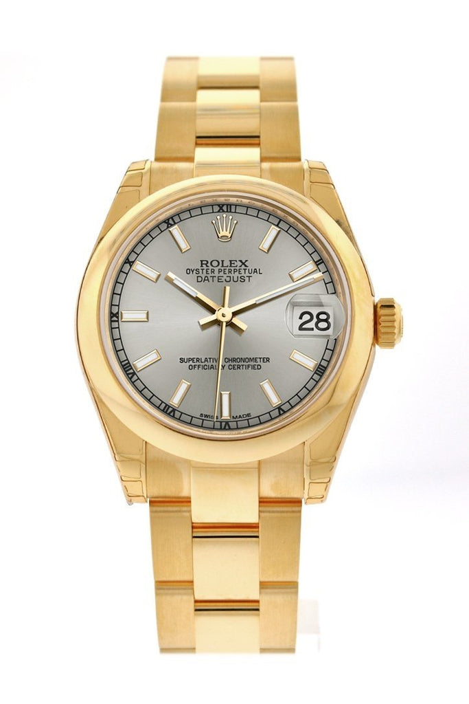 Rolex Datejust 31 Silver Dial 18K Yellow Gold Ladies Watch 178248